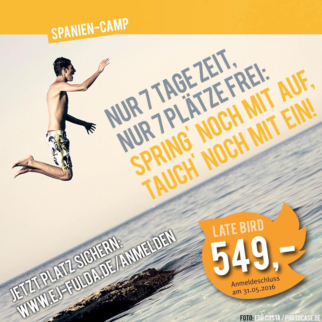 Spanien-Camp 2016 Anmeldeschluss